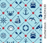 vector seamless pattern with... | Shutterstock .eps vector #706254130