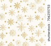 golden snowflake pattern....   Shutterstock .eps vector #706255753
