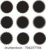 set of vector starburst ... | Shutterstock .eps vector #706257706