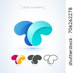 vector abstract letter t logo... | Shutterstock .eps vector #706262278