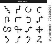 arrow icons set | Shutterstock .eps vector #706266034