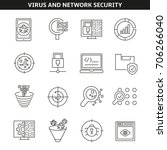 virus and network security... | Shutterstock .eps vector #706266040