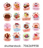 bakery shop sweets and desserts ... | Shutterstock .eps vector #706269958
