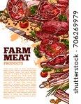 farm fresh meat poster template ... | Shutterstock .eps vector #706269979