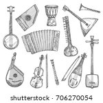 musical instruments vector... | Shutterstock .eps vector #706270054