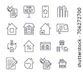 outline web icons set   real... | Shutterstock .eps vector #706272700