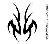 tribal tattoo art designs.... | Shutterstock .eps vector #706279000