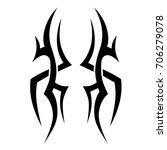tattoo tribal vector design.... | Shutterstock .eps vector #706279078