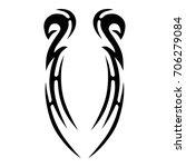 tattoo tribal vector design.... | Shutterstock .eps vector #706279084