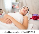 young woman brunette skin... | Shutterstock . vector #706286254