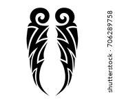 tattoo tribal vector design.... | Shutterstock .eps vector #706289758