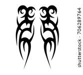 tribal tattoo art designs.... | Shutterstock .eps vector #706289764