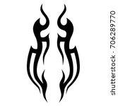 tribal tattoo art designs.... | Shutterstock .eps vector #706289770