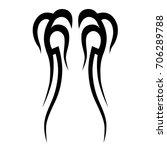 tattoo tribal vector design....   Shutterstock .eps vector #706289788