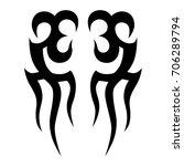 tattoo tribal vector design.... | Shutterstock .eps vector #706289794