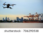 modern rc drone   quadcopter... | Shutterstock . vector #706290538