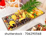 colorful fruits laying on the... | Shutterstock . vector #706290568