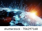 global network and datas... | Shutterstock . vector #706297168