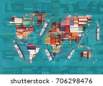 global transport connection to... | Shutterstock . vector #706298476