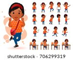 ready to use little black... | Shutterstock .eps vector #706299319