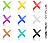 collection of colored crosses... | Shutterstock .eps vector #706299328