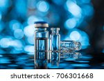 vials for vaccine injection  to ...   Shutterstock . vector #706301668