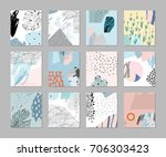 set of creative universal... | Shutterstock .eps vector #706303423