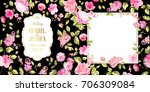 spring syringa flowers... | Shutterstock .eps vector #706309084