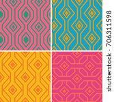 set of geometric patterns....   Shutterstock .eps vector #706311598