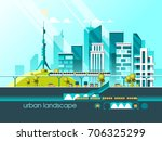 green energy and eco friendly... | Shutterstock .eps vector #706325299