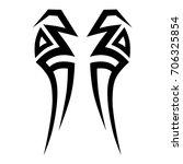 tattoo tribal vector design.... | Shutterstock .eps vector #706325854