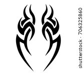tribal tattoo art designs.... | Shutterstock .eps vector #706325860