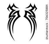 tattoo tribal vector design.... | Shutterstock .eps vector #706325884
