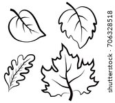 collection of leaves icons.... | Shutterstock .eps vector #706328518