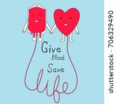 blood donation concept give... | Shutterstock .eps vector #706329490