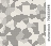 modern stylish halftone texture.... | Shutterstock .eps vector #706331098