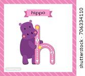 letter h lowercase cute... | Shutterstock .eps vector #706334110