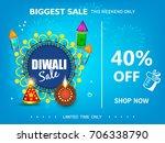 diwali festival sale 40  off... | Shutterstock .eps vector #706338790
