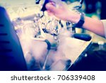barista cafe making coffee ... | Shutterstock . vector #706339408