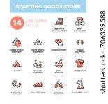 sporting goods store   modern... | Shutterstock .eps vector #706339588