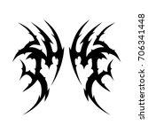 tattoo tribal vector design....   Shutterstock .eps vector #706341448