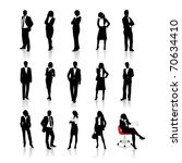 business people silhouettes | Shutterstock .eps vector #70634410