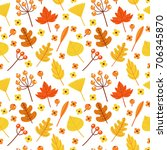 vector seamless in autumn style.... | Shutterstock .eps vector #706345870