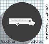 school bus icon. transport sign. | Shutterstock .eps vector #706346020