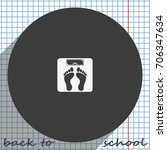 weighting icon. weight watchers ...   Shutterstock .eps vector #706347634