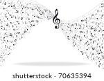 music notes background   Shutterstock .eps vector #70635394