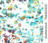 white and sea green splatter... | Shutterstock .eps vector #706361023