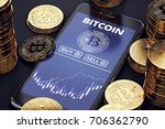 Smartphone With Bitcoin Chart...