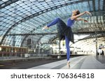 incredible ballerina is posing... | Shutterstock . vector #706364818