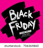 black friday sale banner | Shutterstock .eps vector #706364860